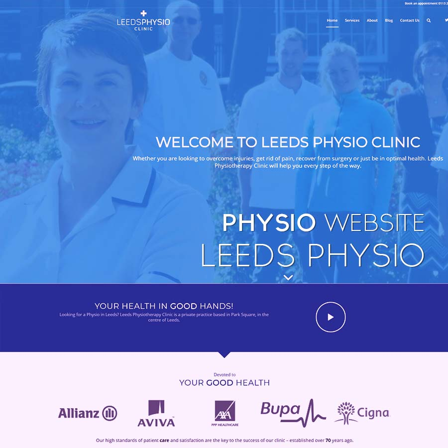 leeds physio website